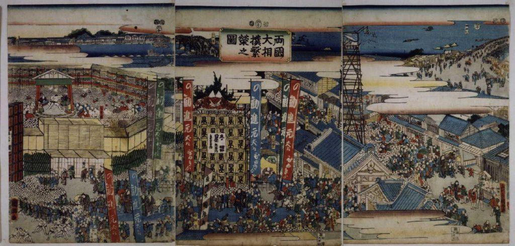 作品画像:両国大相撲繁栄図