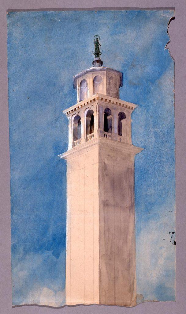 作品画像:水彩画  ヴェネツィアの鐘楼