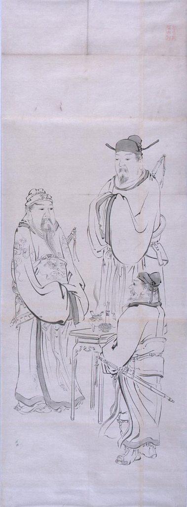 作品画像:粉本 三国志「桃園の誓」