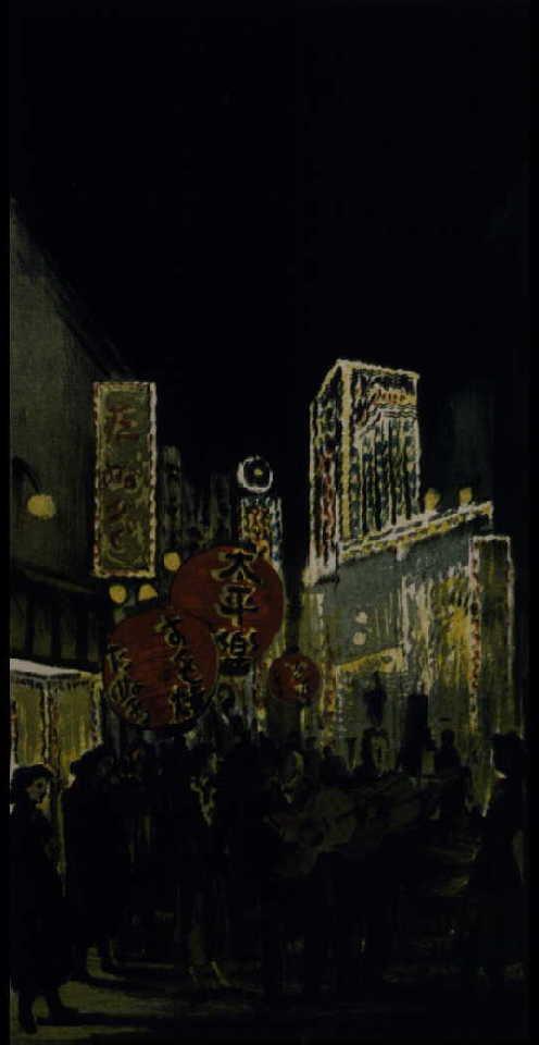 作品画像:夜の街(銀座裏)