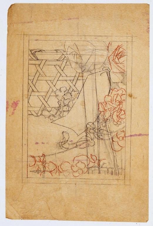 作品画像:表紙下絵 籬の花
