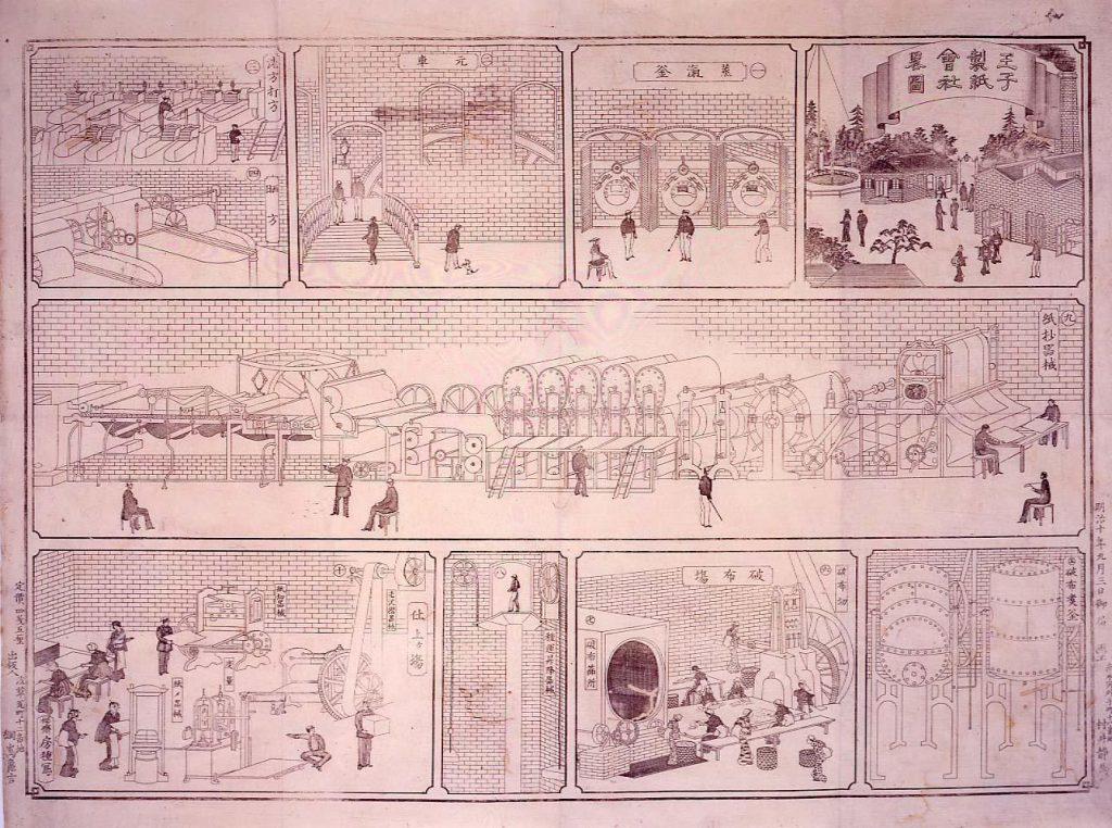 作品画像:王子製紙会社略図