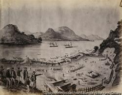 作品画像:フランス、オランダ両軍に占拠された後の前田洲崎砲台の内部