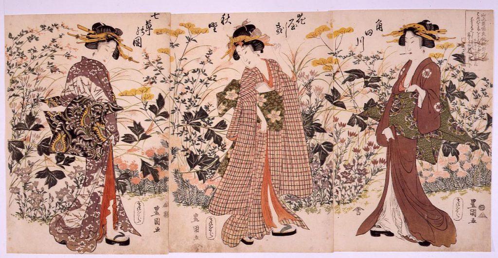 作品画像:角田川花やしき秋野七草の図