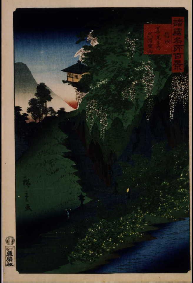 作品画像:諸国名所百景 信州善光寺道久須里山