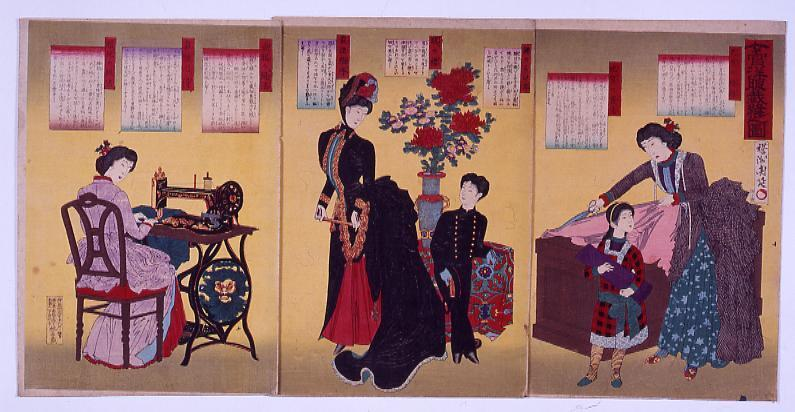 作品画像:女官洋服裁縫之図
