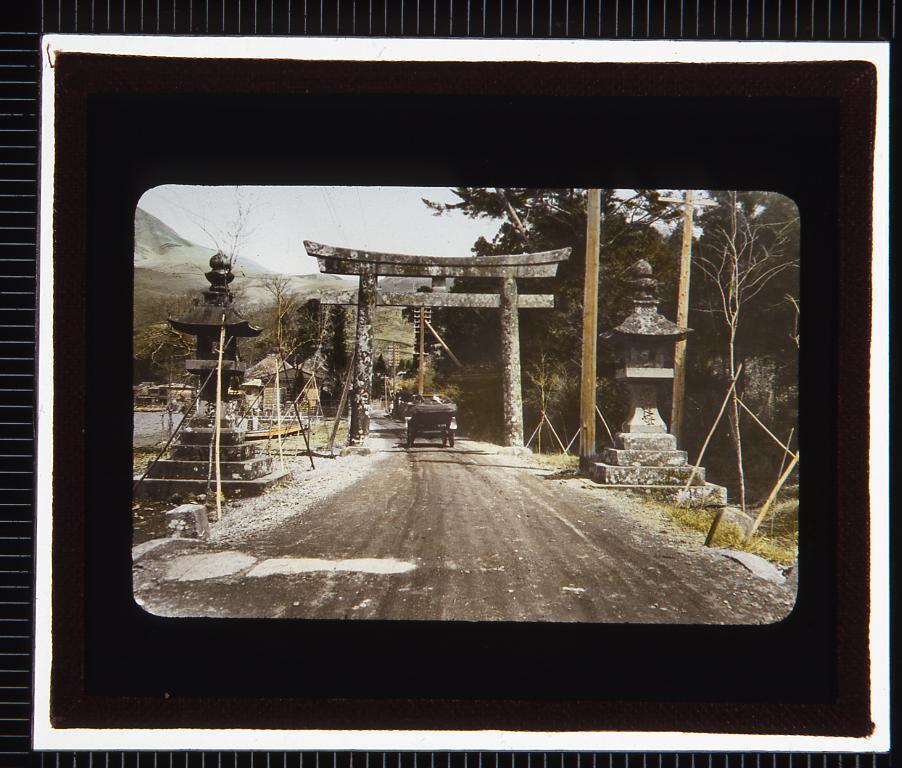 神社(幻燈原板)