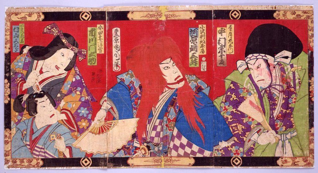 作品画像:芝居絵(望月左衛門)