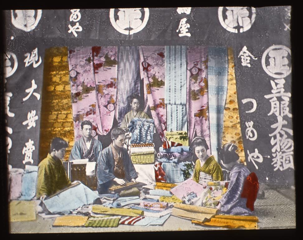 作品画像:呉服屋の店員と客