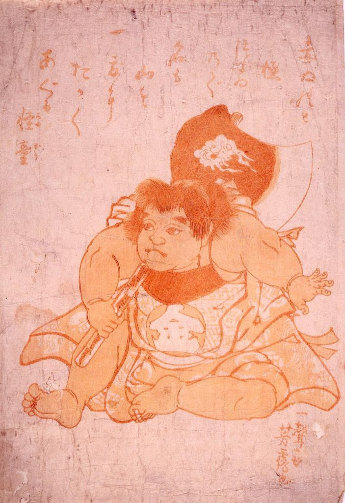 作品画像:疱瘡絵(金太郎)