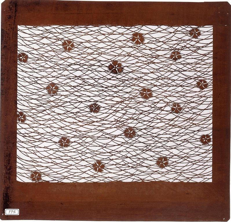 作品画像:長板中形型紙 撫子に芝草
