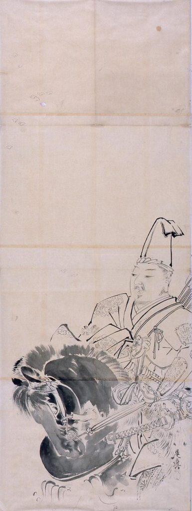 作品画像:粉本 源義家 名古曽の関