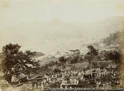 作品画像:小島付近墓地からの長崎市街