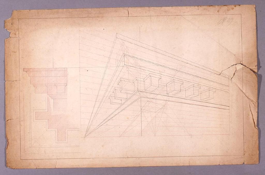 作品画像:図面習作 透視図(建築物部分)