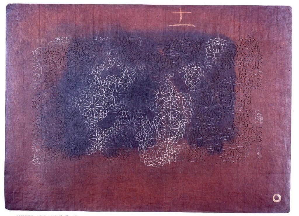 長板中形型紙 菊(小紋)