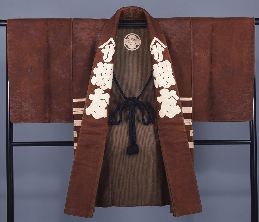 作品画像:革羽織(堺屋・丸に木瓜紋)