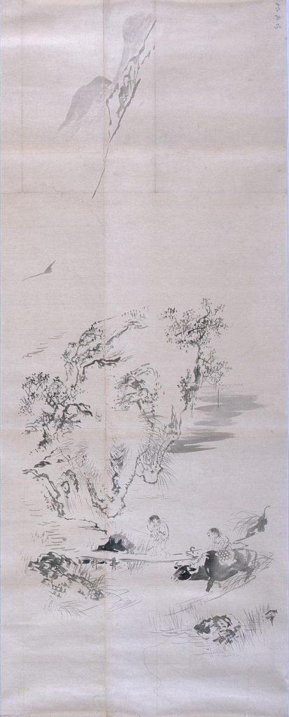 作品画像:粉本 山渓牧童