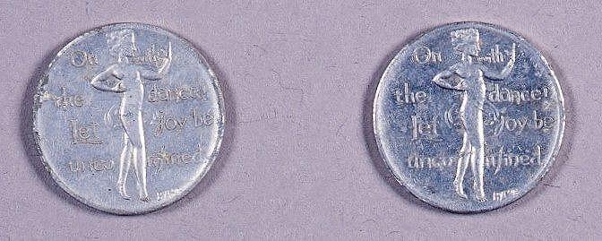 フロリダダンスホールコイン型チケット