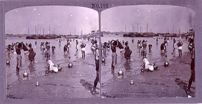 作品画像:インドの沐浴(No.186)