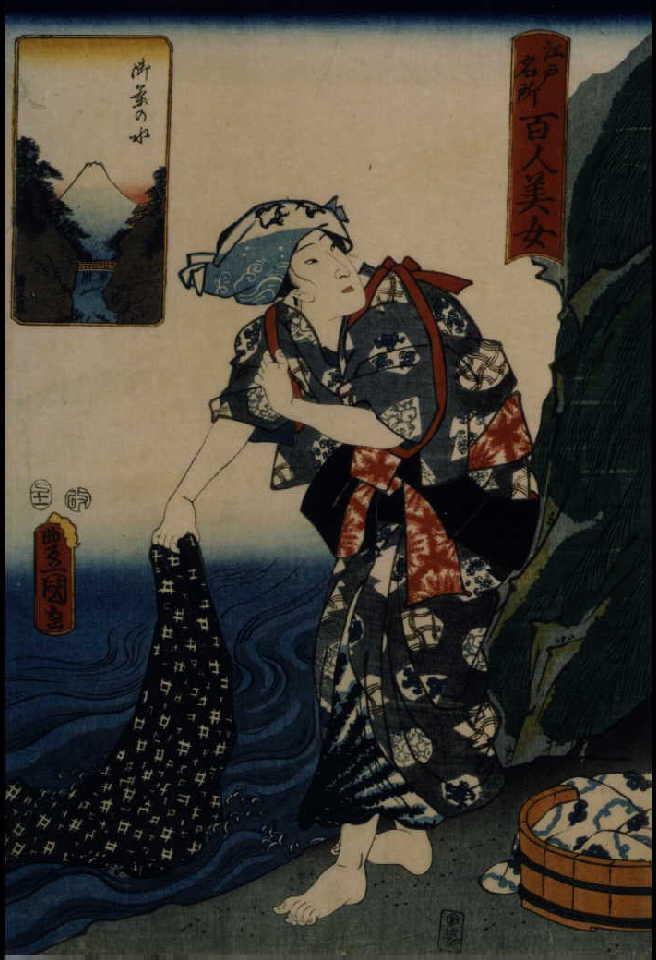 作品画像:江戸名所百人美女 御茶の水