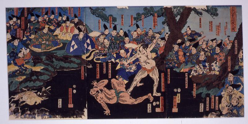 作品画像:赤沢山勇士相撲之図