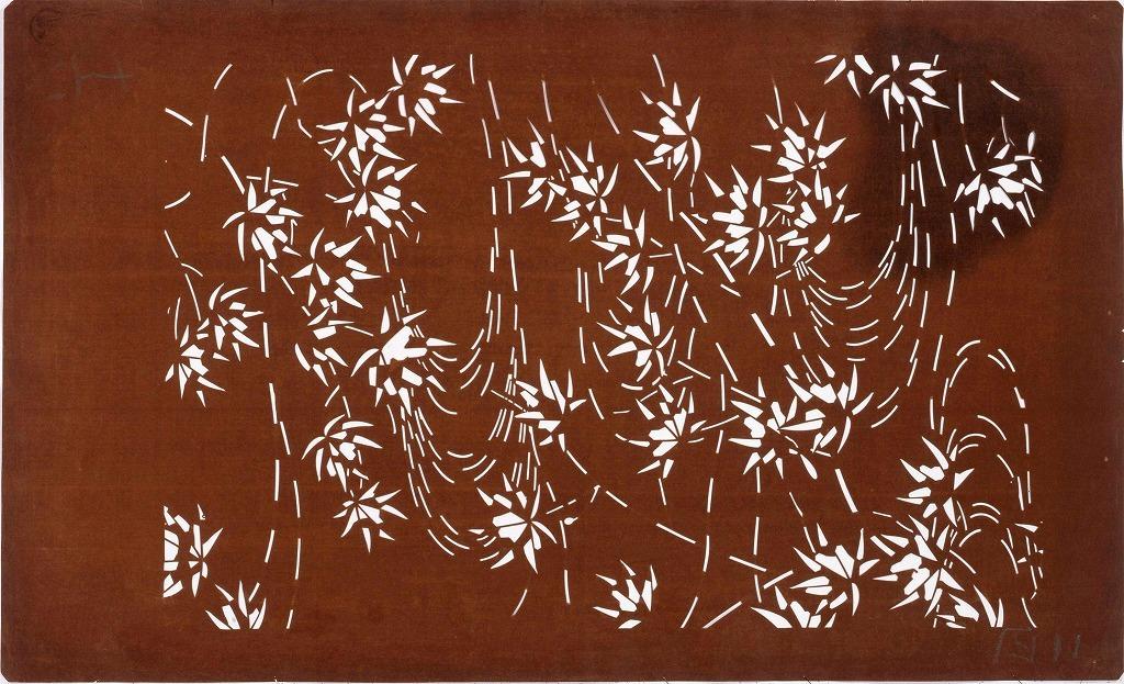 作品画像:長板中形型紙 立田川(大判 追掛)