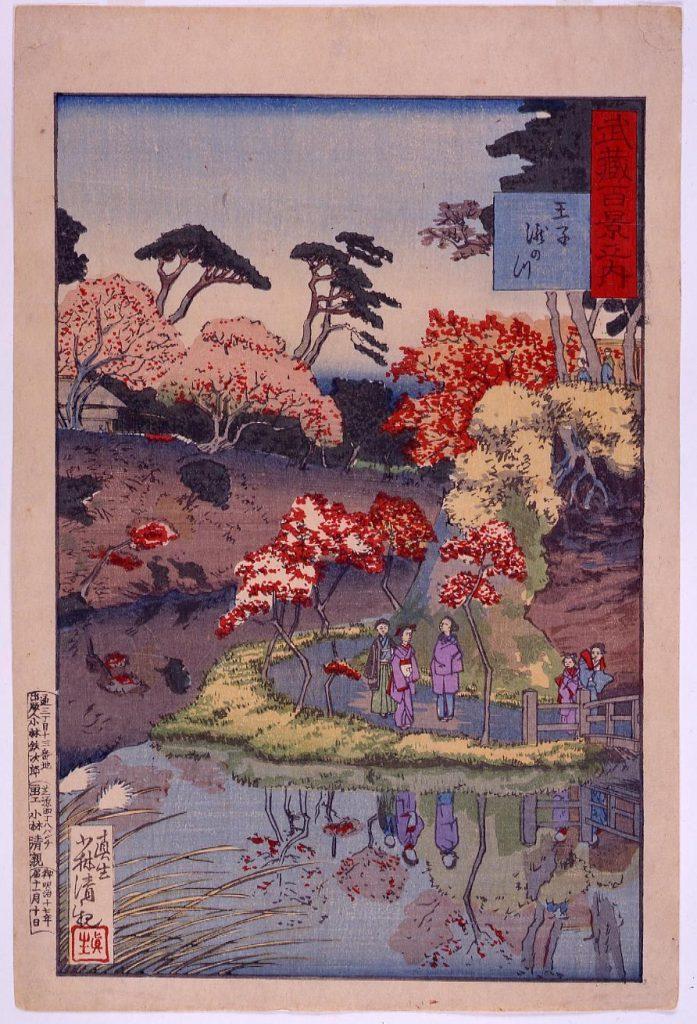 作品画像:武蔵百景之内 王子滝之川