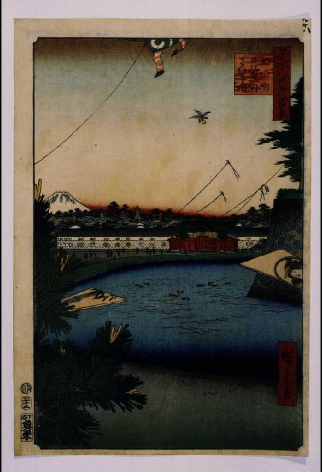 作品画像:名所江戸百景 山下町日比谷外さくら田