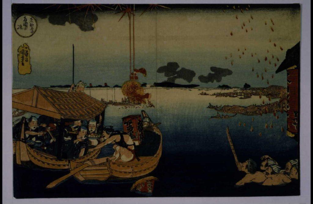 作品画像:東都名所 両国の涼