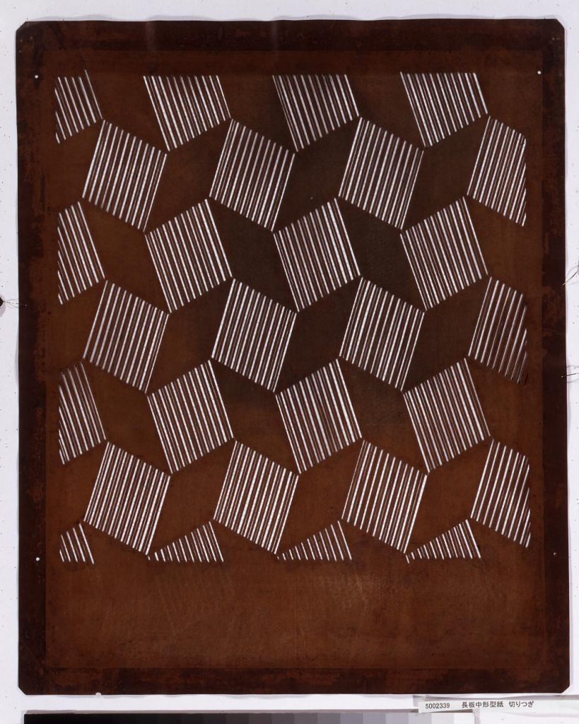 作品画像:長板中形型紙 切りつぎ