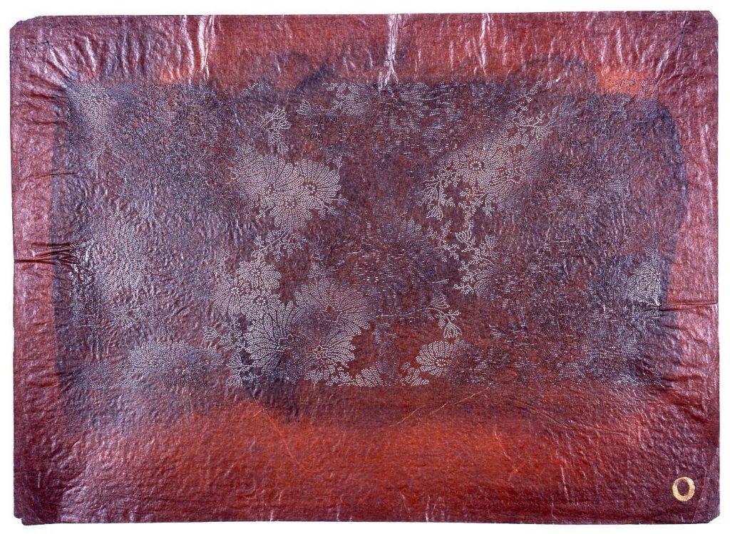 作品画像:長板中形型紙 菊(小紋)