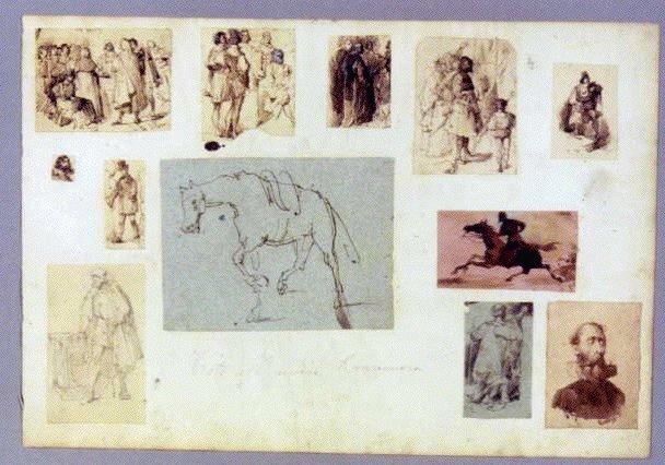 作品画像:素描 馬,人物群像 他