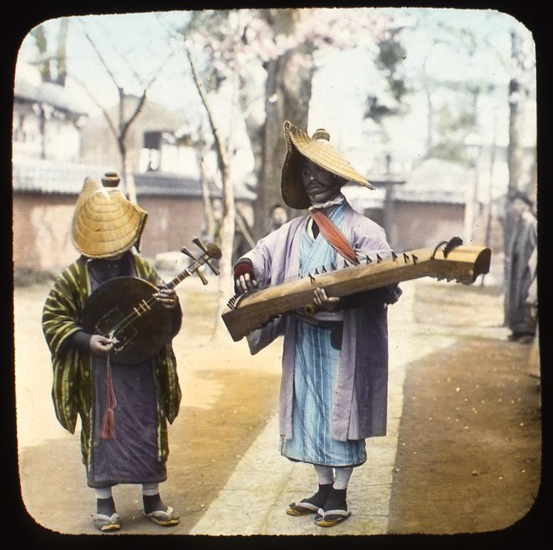 作品画像:琴と月琴を弾く流し