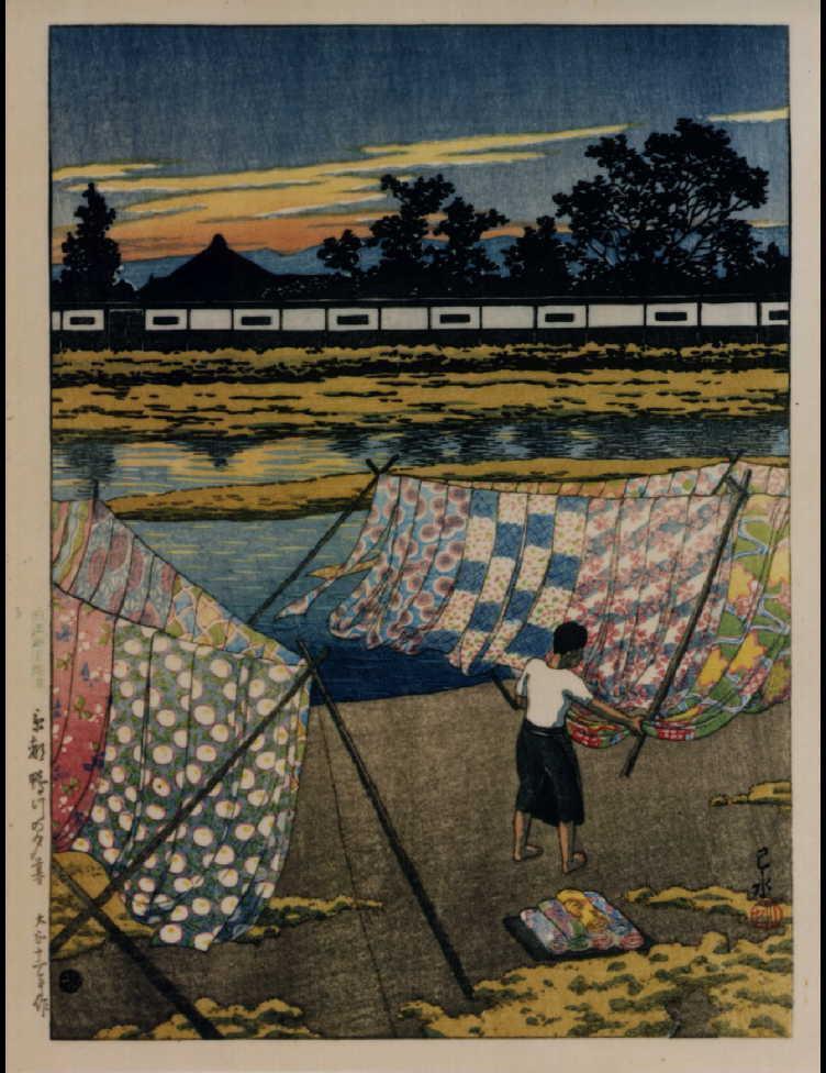 作品画像:日本風景選集 廿九 京都鴨川の夕暮