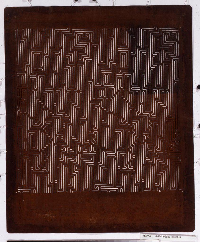 作品画像:長板中形型紙 幾何模様