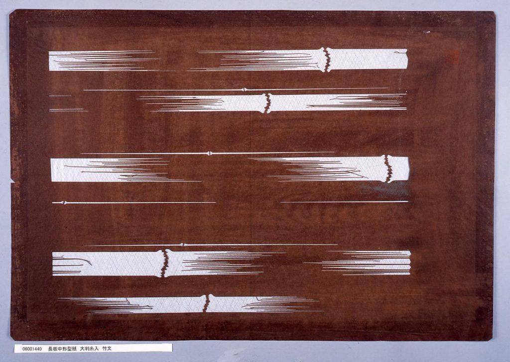 作品画像:長板中形型紙 大判糸入 竹文