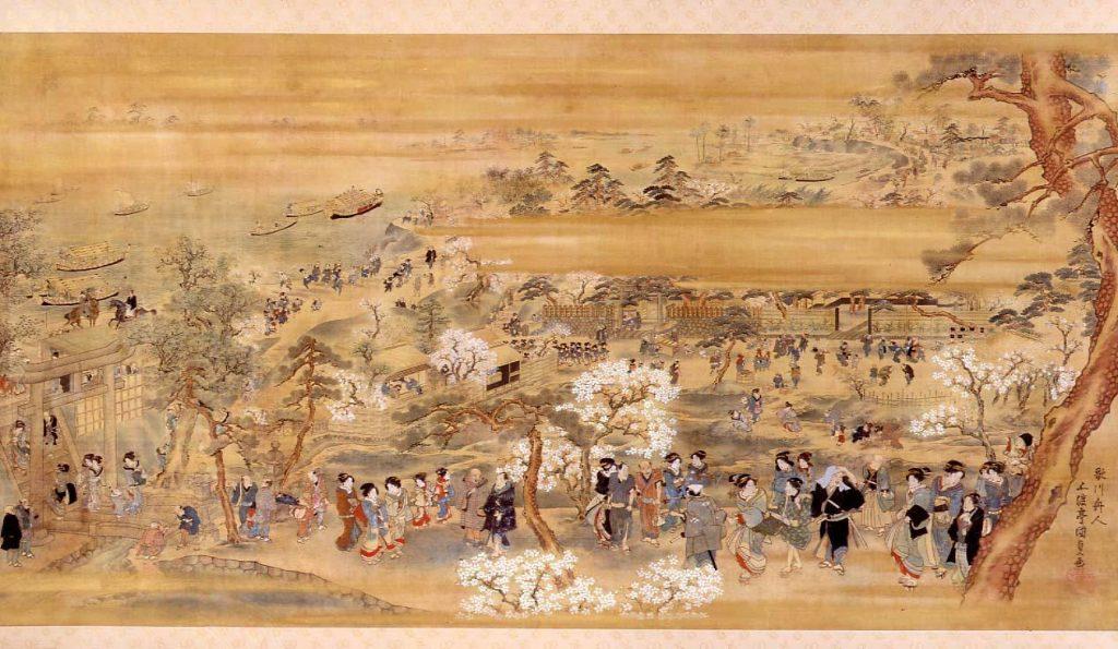 作品画像:隅田川東岸花見図