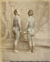 作品画像:(入れ墨をいれた二人の男性)
