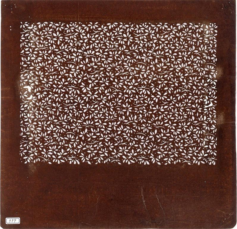 作品画像:長板中形型紙 花べん散らし