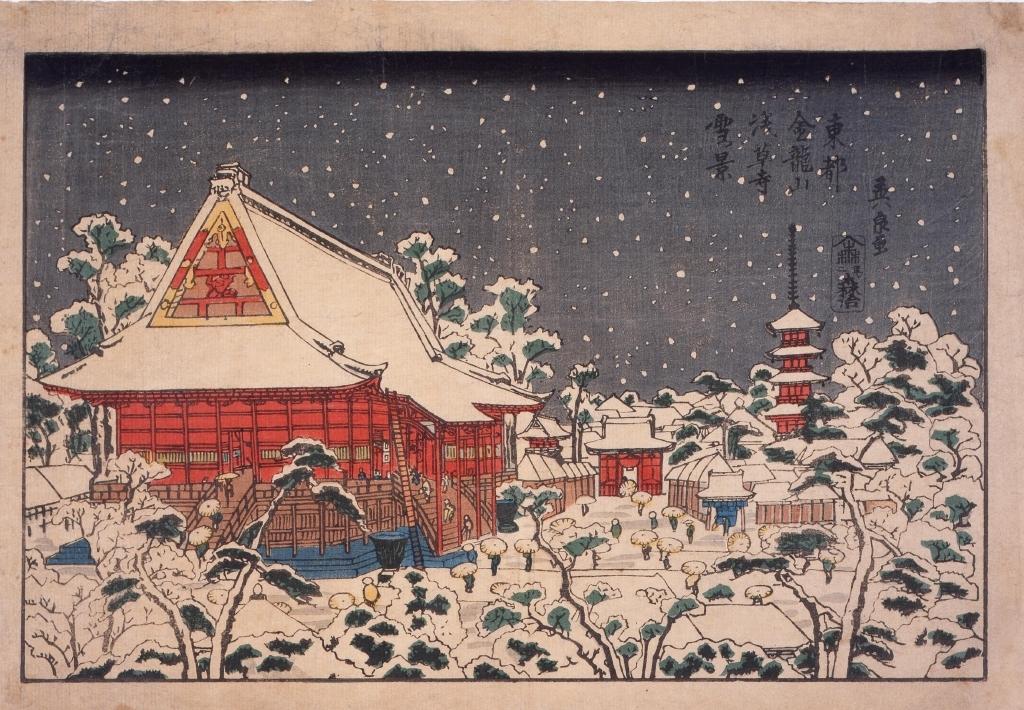 作品画像:東都金龍山浅草寺雪景