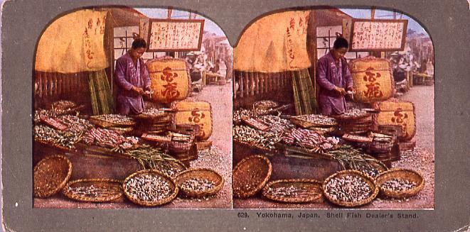 作品画像:Yokohama,Japan.Shell Fish Dealer's Stand.629