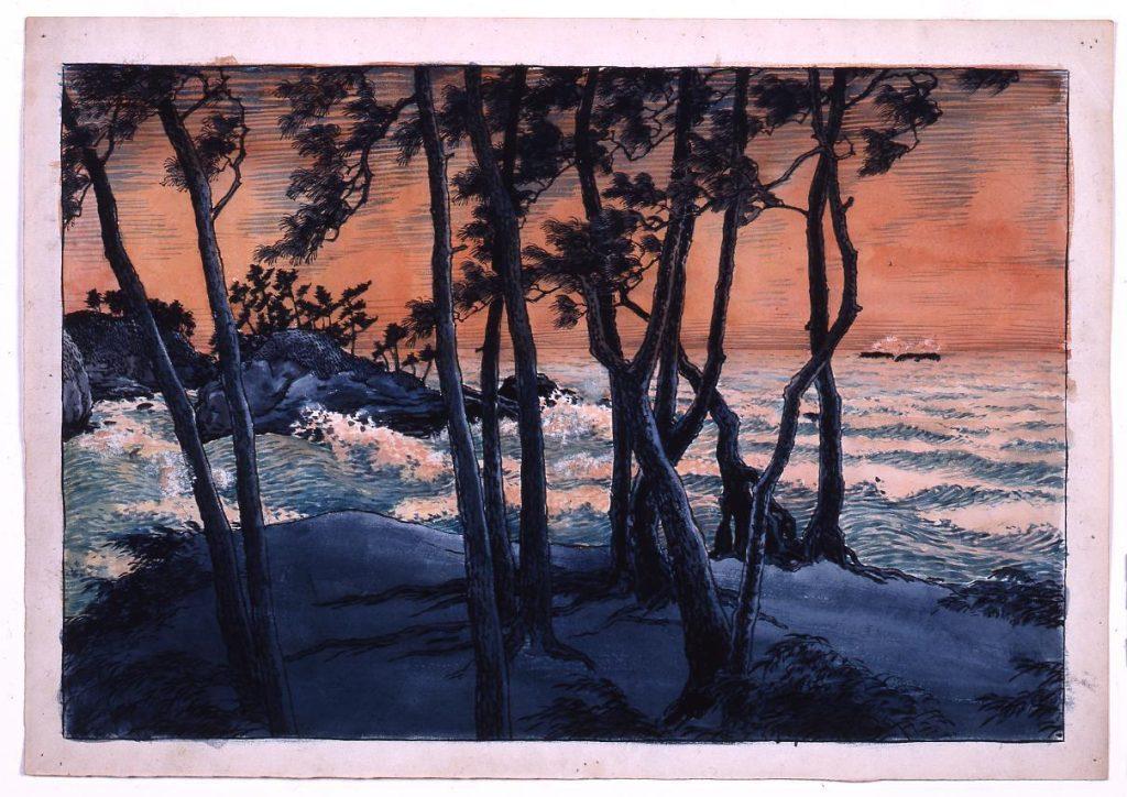 作品画像:旅みやげ第三集 出雲日の御崎 原画