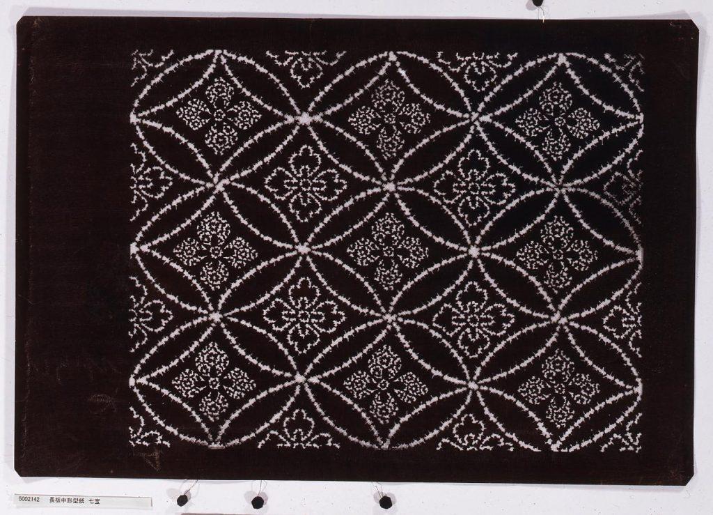 作品画像:長板中形型紙 七宝