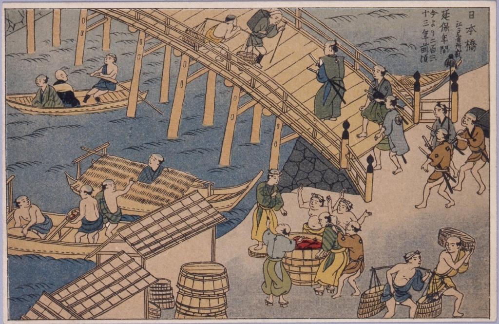 作品画像:日本橋江戸雀所載延保年間今より二百三十三年前頃