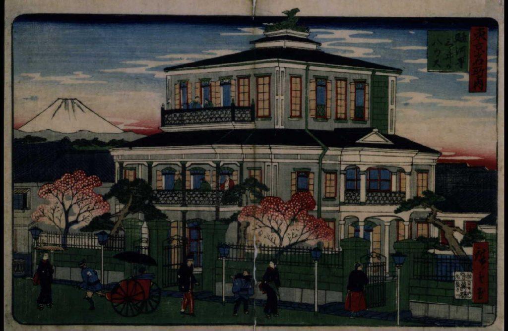 作品画像:東京名所之内 駿河町三ッ井のハウス