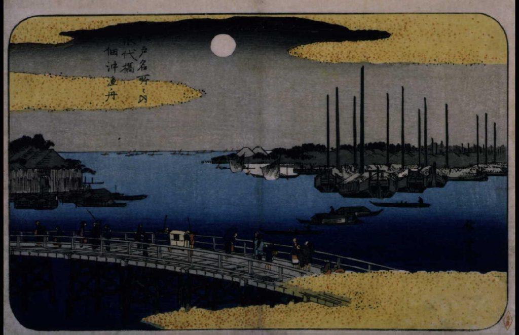 作品画像:江戸名所之内 永代橋佃沖漁舟