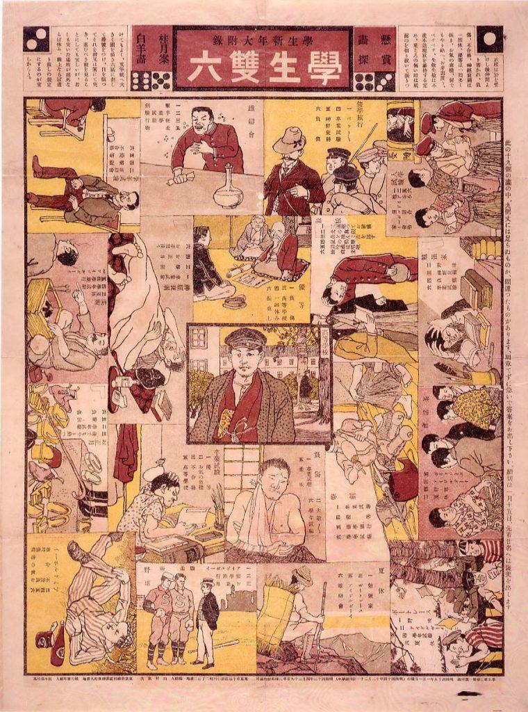 作品画像:学生双六(『学生』3巻1号付録)