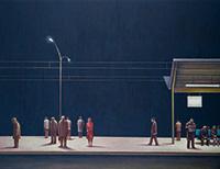 作品画像:夜の駅