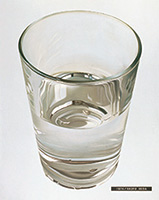 作品画像:コップの水