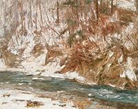 作品画像:冬の渓流(塩原)